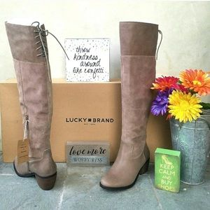NWT Lucky brand knee high boots